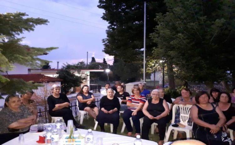Συζήτηση στο χωριό Περιστερά με τον σύλλογο γυναικών