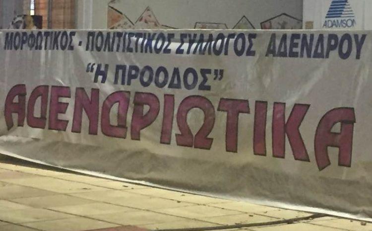 """40 χρόνια """"Πρόοδος"""" σύλλογος Αδένδρου"""